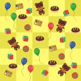 Children background with toys Royalty Free Stock Images