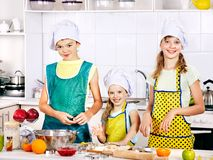 Children bake cookies. Royalty Free Stock Images
