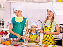 Children bake cookies Royalty Free Stock Photography