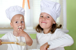 Children bakes Stock Image