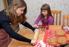 Children baking cake Stock Photography