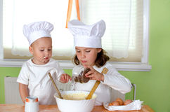 Children are baking Stock Image
