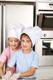 Children baking christmas cookies Royalty Free Stock Photography