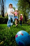 Children with ball Royalty Free Stock Images