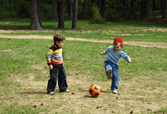 Children with a ball Stock Image
