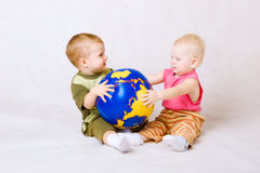 Children with ball Stock Image