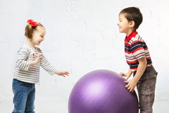 Children With Ball Royalty Free Stock Photo
