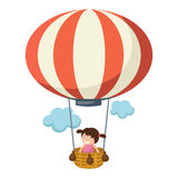 Children in a balloon vector Stock Photos