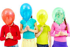 Children with balloons Royalty Free Stock Photo