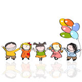 Children with balloons Royalty Free Stock Photography