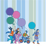 Children with balloons Royalty Free Stock Image