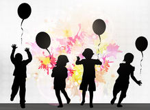 Children with balloons Stock Photos