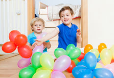 Children with balloons . Stock Photos