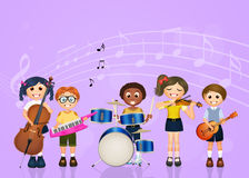 Children band music Stock Images