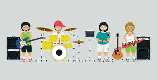 Children Band Stock Photography