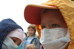 Children in bandages Royalty Free Stock Image