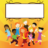 Children with banner Stock Images