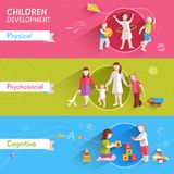 Children Banner Set Royalty Free Stock Photos