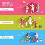 Children Banner Set vector illustration