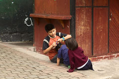 Children in Banos, Ecuador Stock Photo