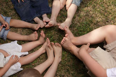 Children barefoot Stock Image