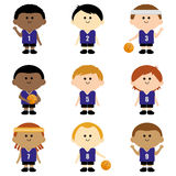 Children basketball team Stock Image