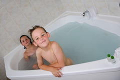 Children in bath Royalty Free Stock Image