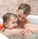 Children bathe in bathing Stock Photography