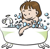 Children bathe Royalty Free Stock Photography