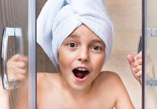 Children in bathroom Royalty Free Stock Images