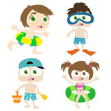 Children on a beach 1 Royalty Free Stock Image