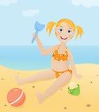 Children on a beach Royalty Free Stock Photos