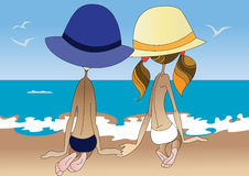 Children on the beach Royalty Free Stock Image