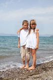 Children on the beach Royalty Free Stock Photos
