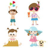 Children on a beach 2 Royalty Free Stock Photos