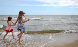 Children on the beach Stock Photography