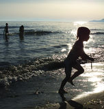 Children on a beach Royalty Free Stock Photography