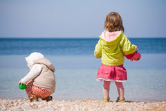Children at beach Royalty Free Stock Photo