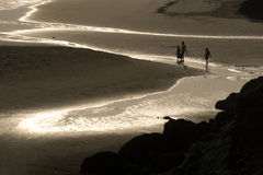 Children on a beach. Children on a Varkala beach in Kerala, India Royalty Free Stock Image