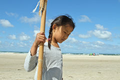 Children at the beach in Denmark Stock Photos