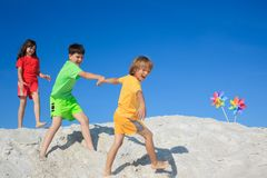 Children beach fun Royalty Free Stock Image