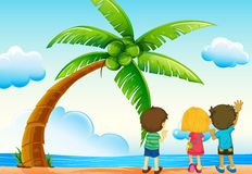 Children and beach Royalty Free Stock Images