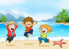 Children and beach Stock Photography