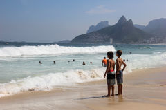 Children on the beach Royalty Free Stock Images