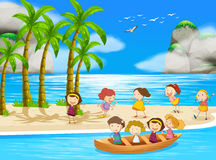 Children and beach Royalty Free Stock Image