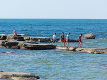 Children on the beach. Royalty Free Stock Images