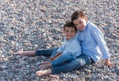 Children on the Beach Stock Photo