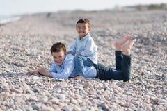 Children on the Beach Stock Image