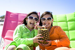 Children on beach vacation Stock Images