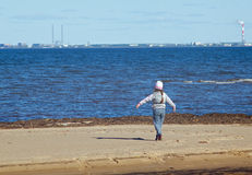 Children on the beach . Stock Images